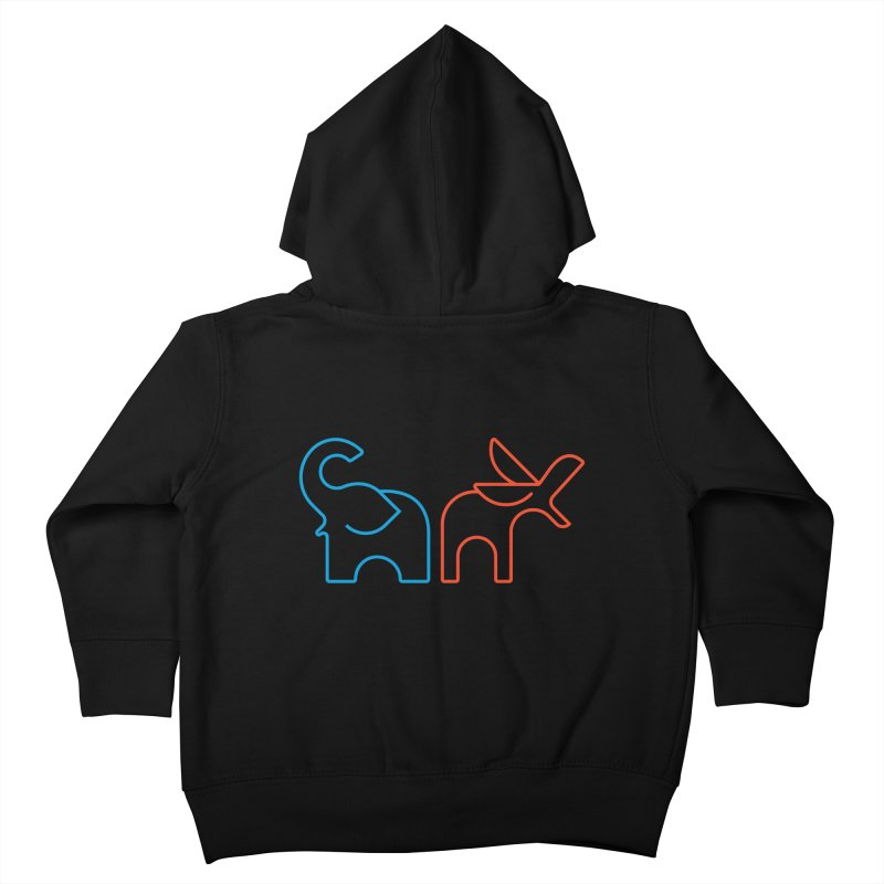 Bipartisanship by Matthew Terdich Kids Toddler Zip-Up Hoody by Chicago Design Museum