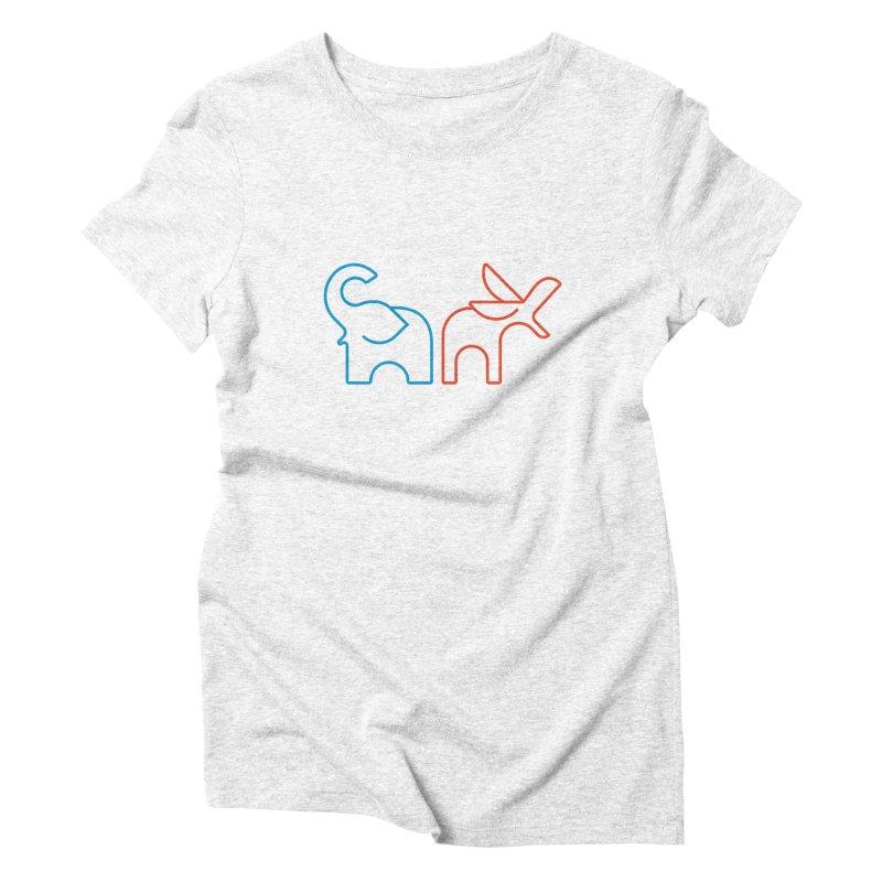 Bipartisanship by Matthew Terdich Women's Triblend T-shirt by Chicago Design Museum