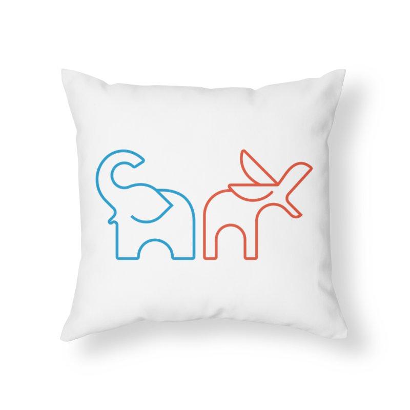 Bipartisanship by Matthew Terdich Home Throw Pillow by Chicago Design Museum