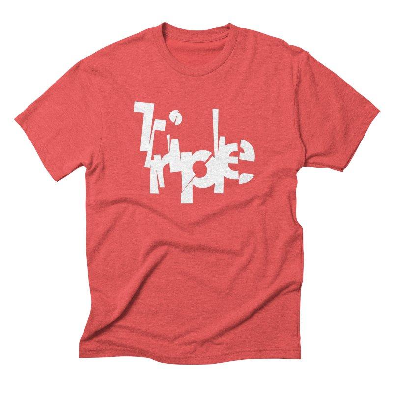 Belgian Triple by Matthew Terdich Men's Triblend T-Shirt by Chicago Design Museum