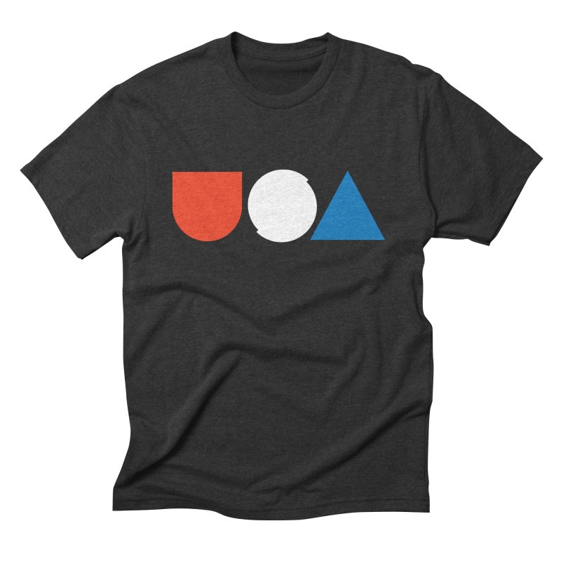 USA by Tanner Woodford in Men's Triblend T-shirt Heather Onyx by Chicago Design Museum