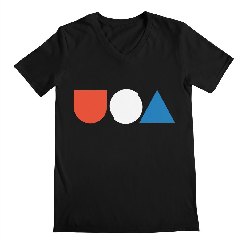 USA by Tanner Woodford Men's V-Neck by Chicago Design Museum