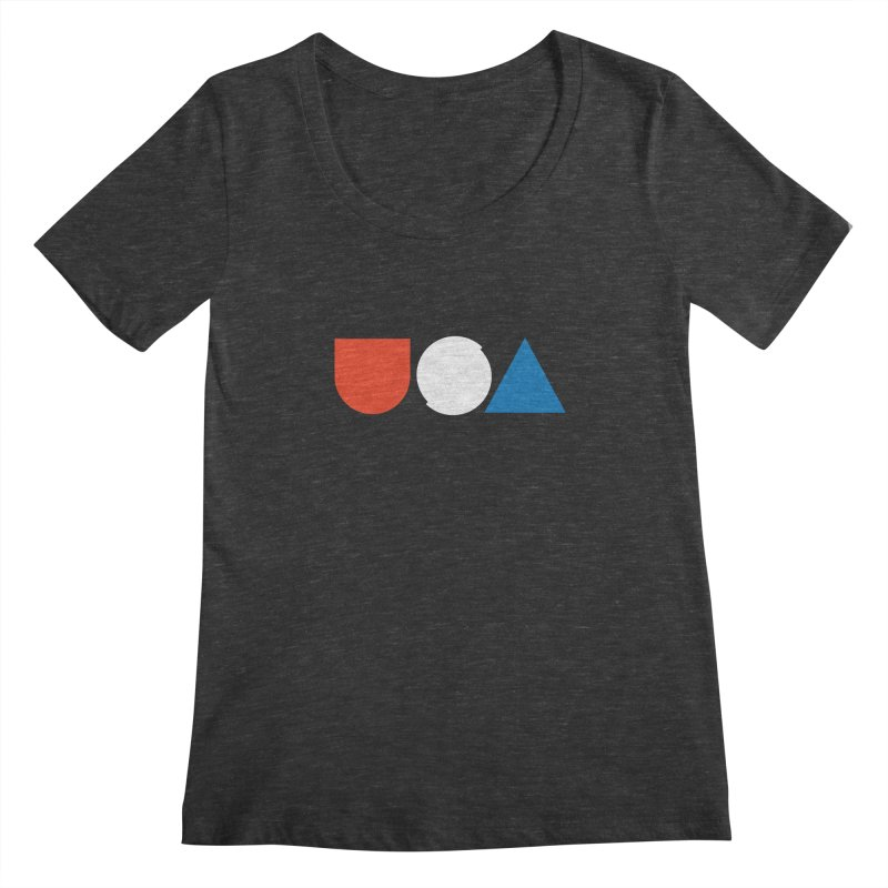 USA by Tanner Woodford Women's Scoopneck by Chicago Design Museum