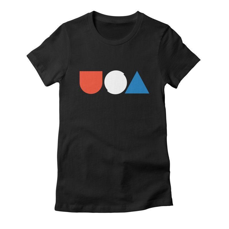 USA by Tanner Woodford Women's Fitted T-Shirt by Chicago Design Museum