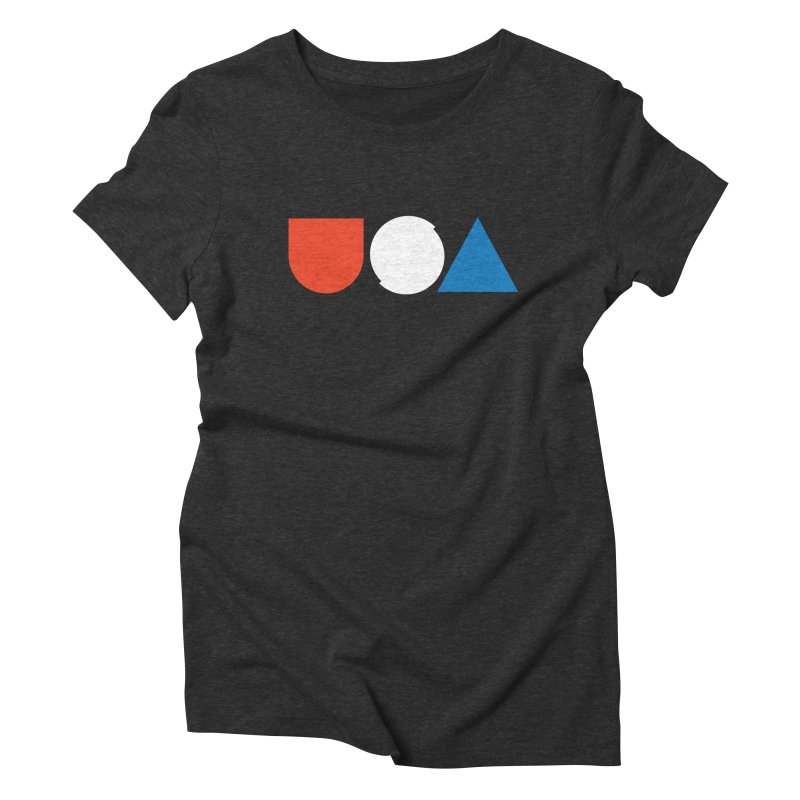 USA by Tanner Woodford Women's Triblend T-shirt by Chicago Design Museum