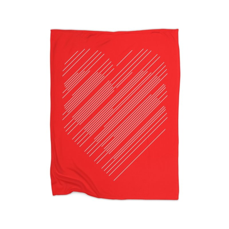 Heart Strings Home Blanket by Chicago Design Museum