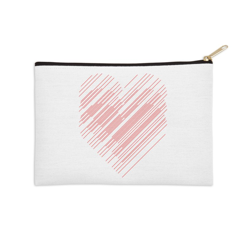 Heart Strings Accessories Zip Pouch by Chicago Design Museum