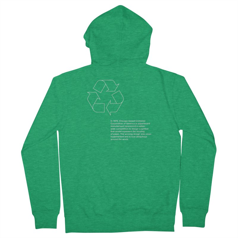 Earth Day Valentine Men's Zip-Up Hoody by Chicago Design Museum