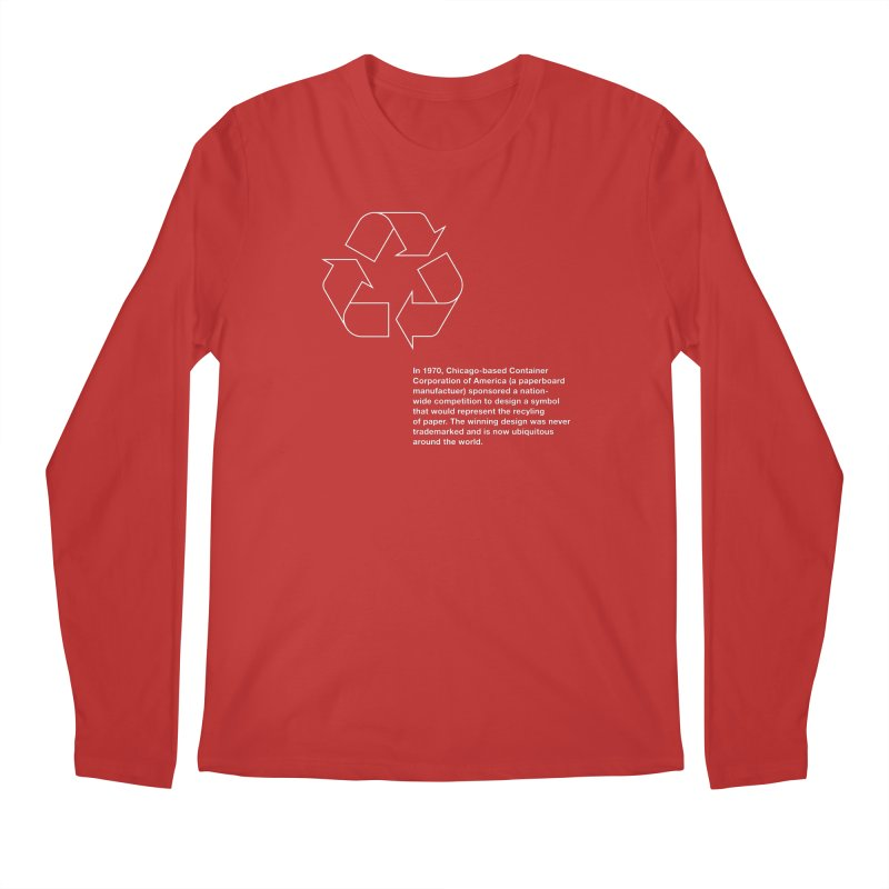 Earth Day Valentine Men's Longsleeve T-Shirt by Chicago Design Museum