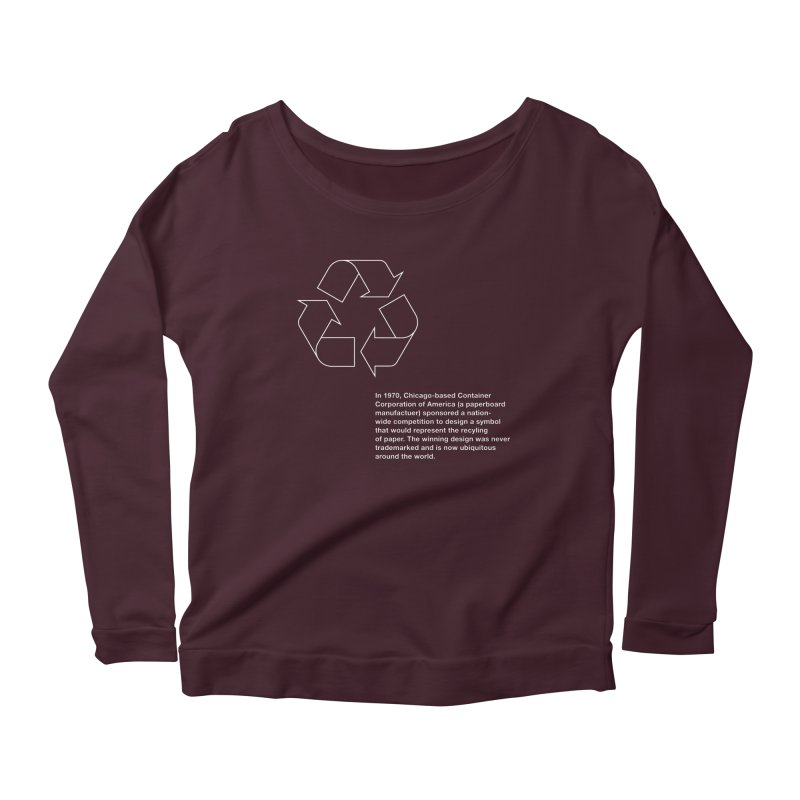 Earth Day Valentine Women's Longsleeve Scoopneck  by Chicago Design Museum