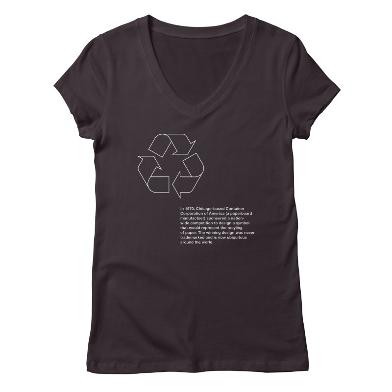 Earth Day Valentine Women's V-Neck by Chicago Design Museum