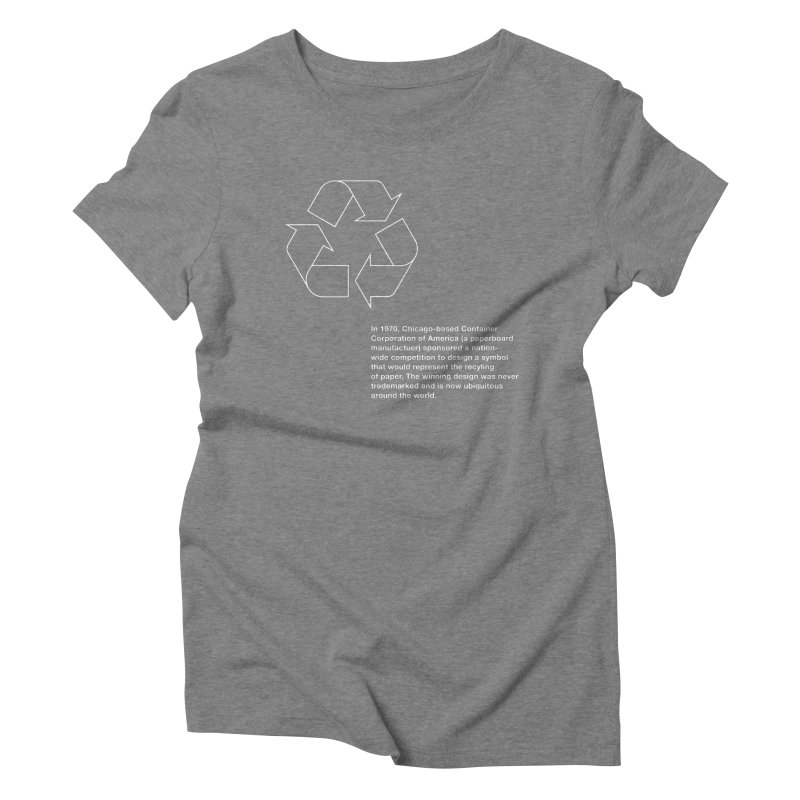 Earth Day Valentine Women's Triblend T-Shirt by Chicago Design Museum