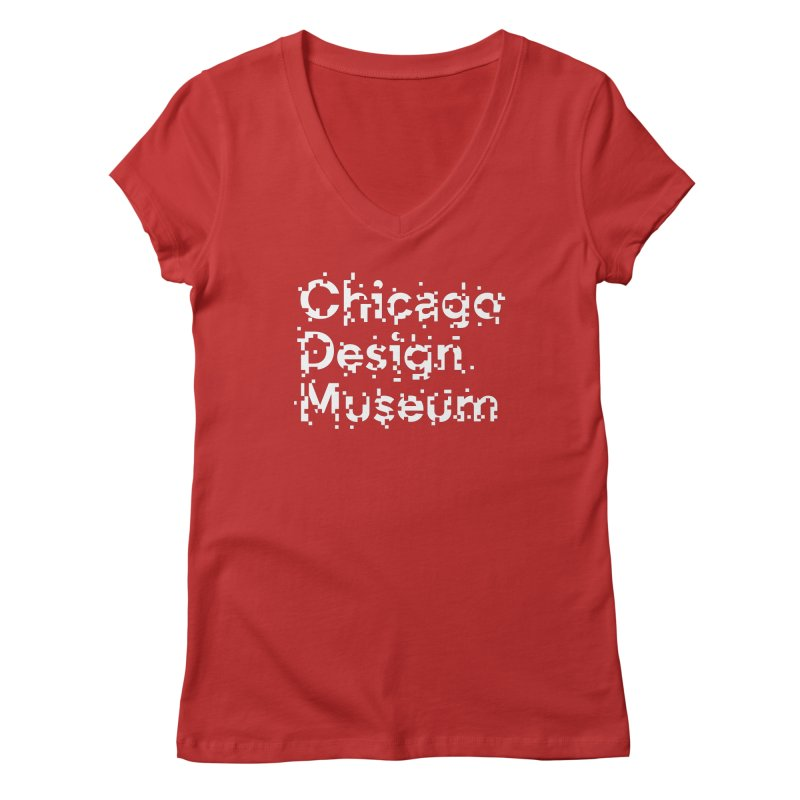 Pixel Play Women's V-Neck by Chicago Design Museum
