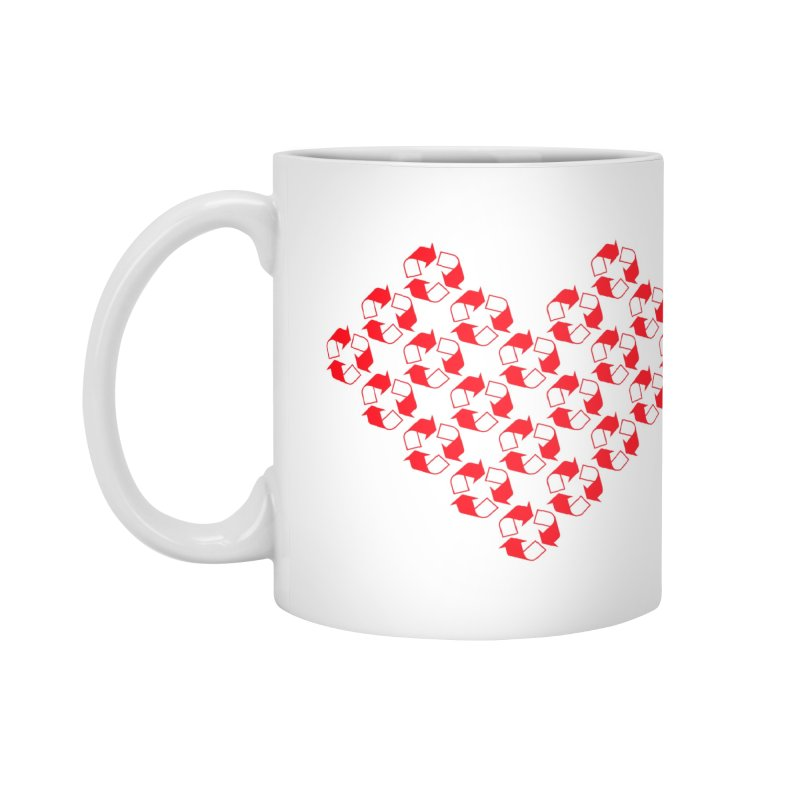 I Heart Recycling Accessories Mug by Chicago Design Museum