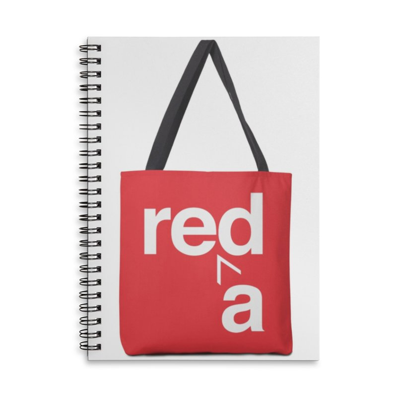 Read Red by John Massey Accessories Lined Spiral Notebook by Design Museum of Chicago