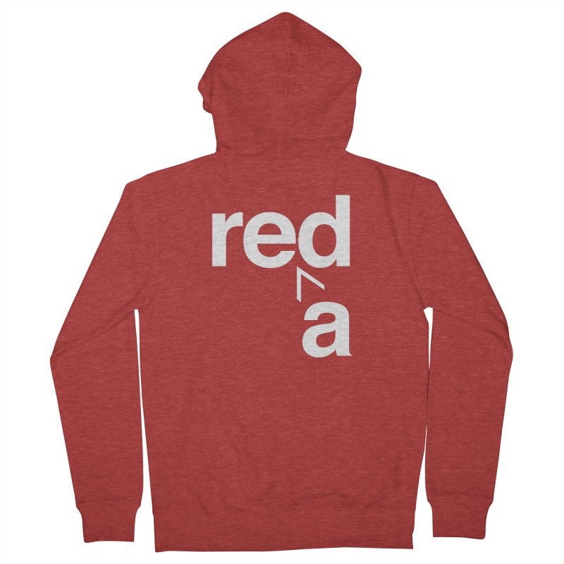 Read Red by John Massey Women's French Terry Zip-Up Hoody by Design Museum of Chicago