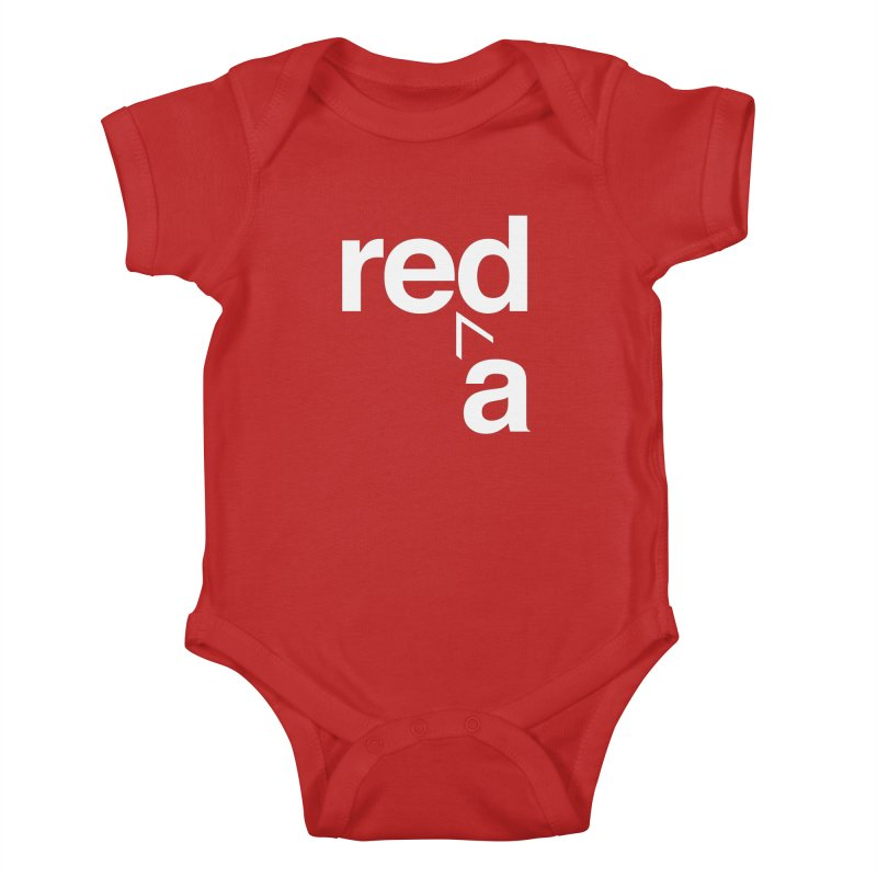 Read Red by John Massey Kids Baby Bodysuit by Design Museum of Chicago