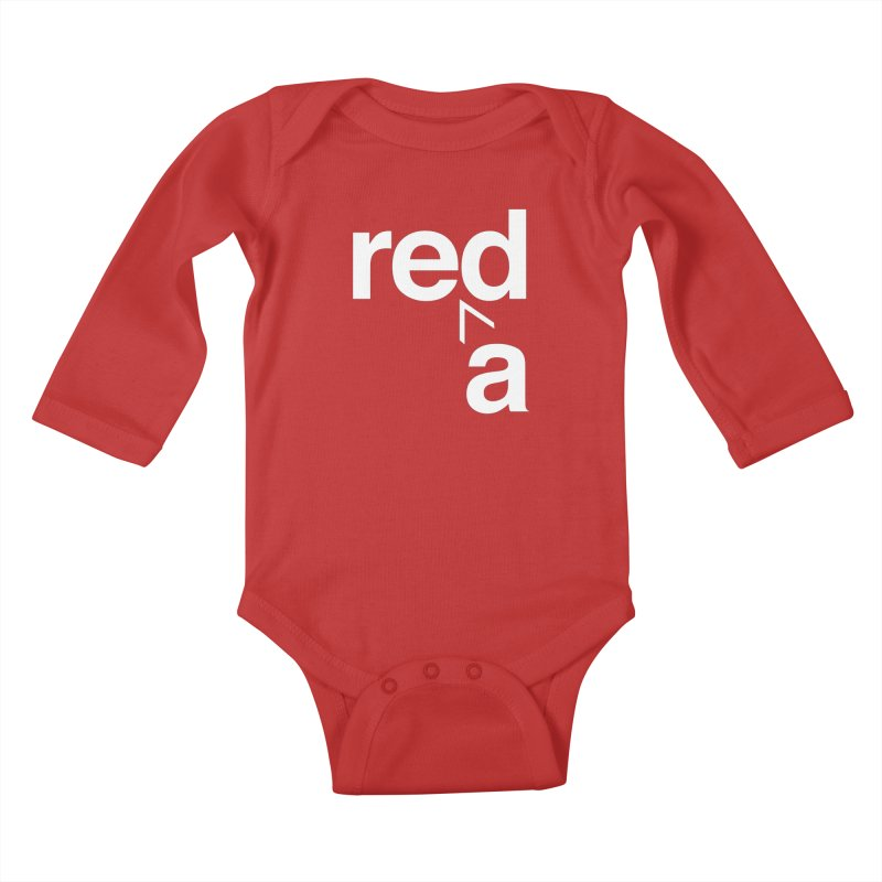Read Red by John Massey Kids Baby Longsleeve Bodysuit by Chicago Design Museum