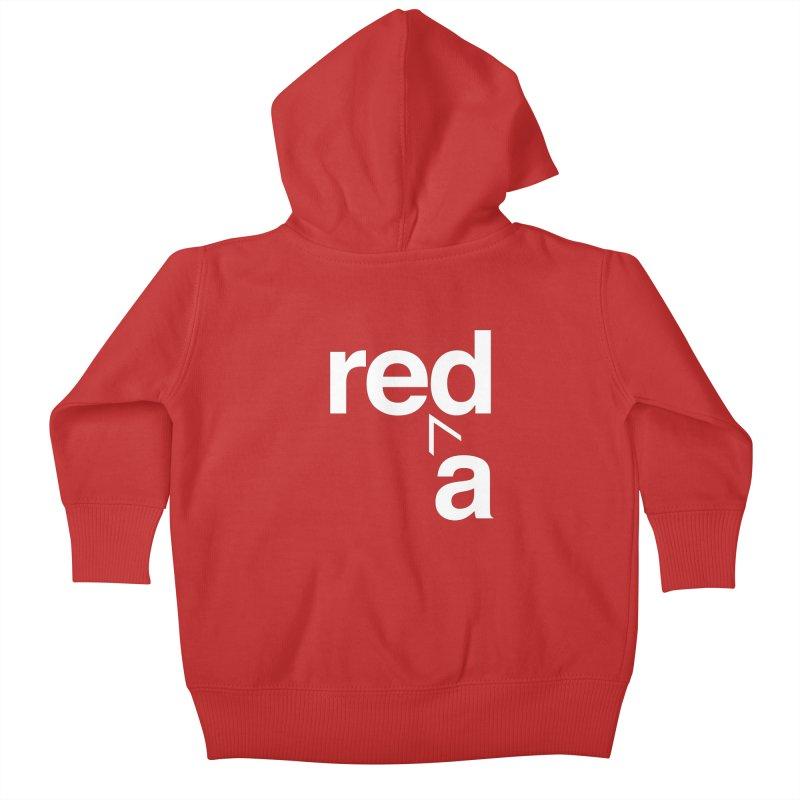 Read Red by John Massey Kids Baby Zip-Up Hoody by Design Museum of Chicago