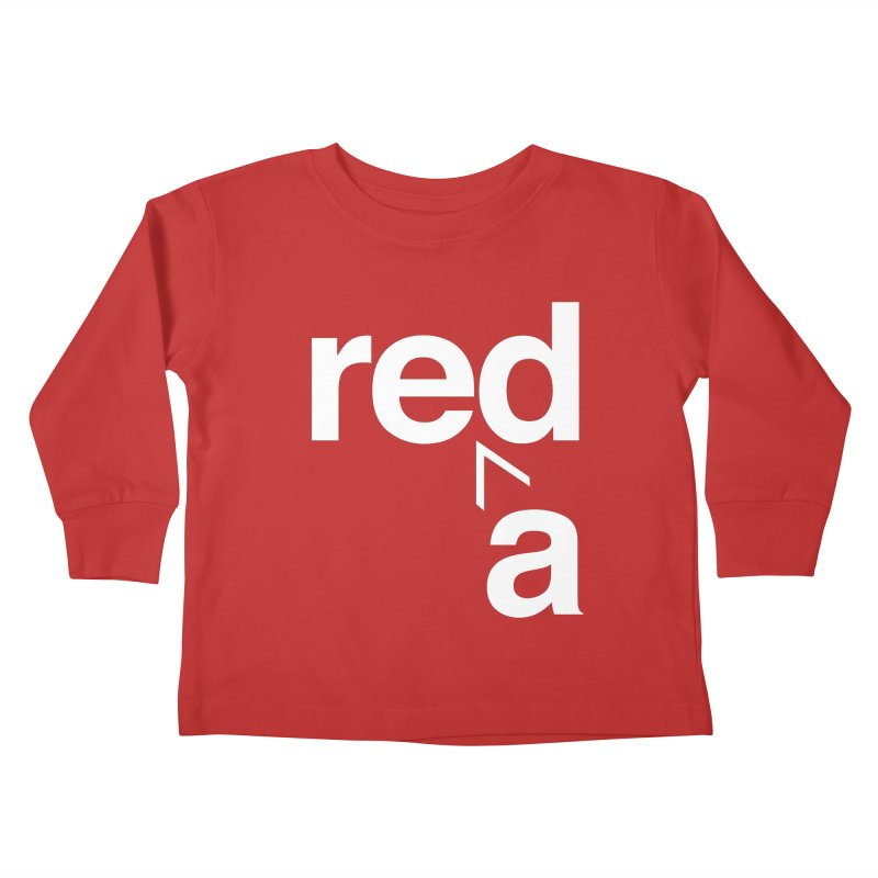 Read Red by John Massey Kids Toddler Longsleeve T-Shirt by Design Museum of Chicago