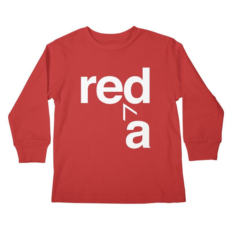Read Red by John Massey Kids Longsleeve T-Shirt by Design Museum of Chicago