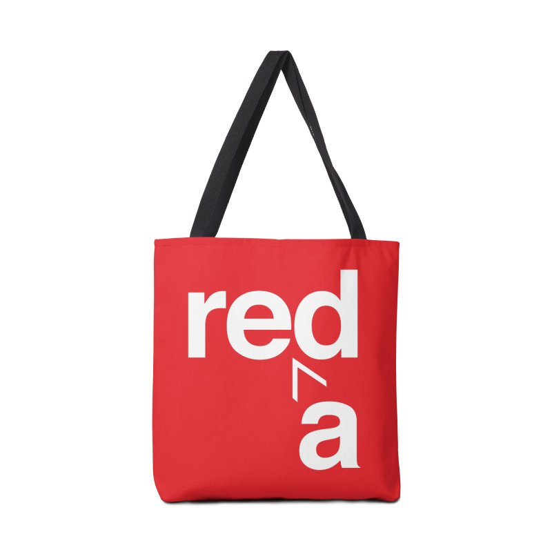 Read Red by John Massey Accessories Bag by Chicago Design Museum