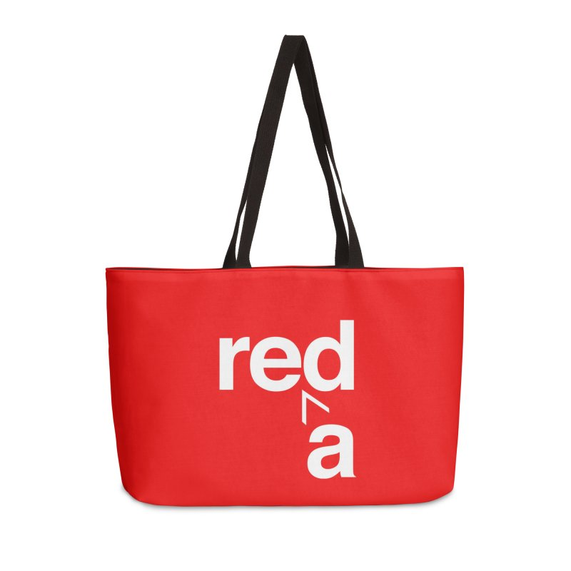 Read Red by John Massey Accessories Weekender Bag Bag by Design Museum of Chicago