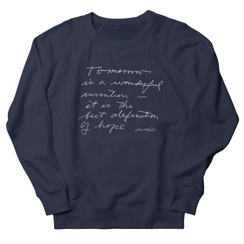 Tomorrow is a Wonderful Invention by Art Paul Women's French Terry Sweatshirt by Design Museum of Chicago