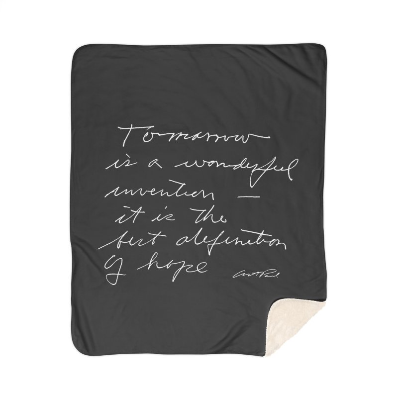 Tomorrow is a Wonderful Invention by Art Paul Home Sherpa Blanket Blanket by Design Museum of Chicago