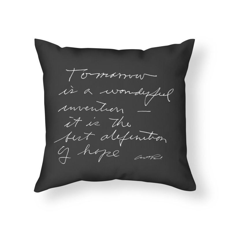 Tomorrow is a Wonderful Invention by Art Paul Home Throw Pillow by Design Museum of Chicago