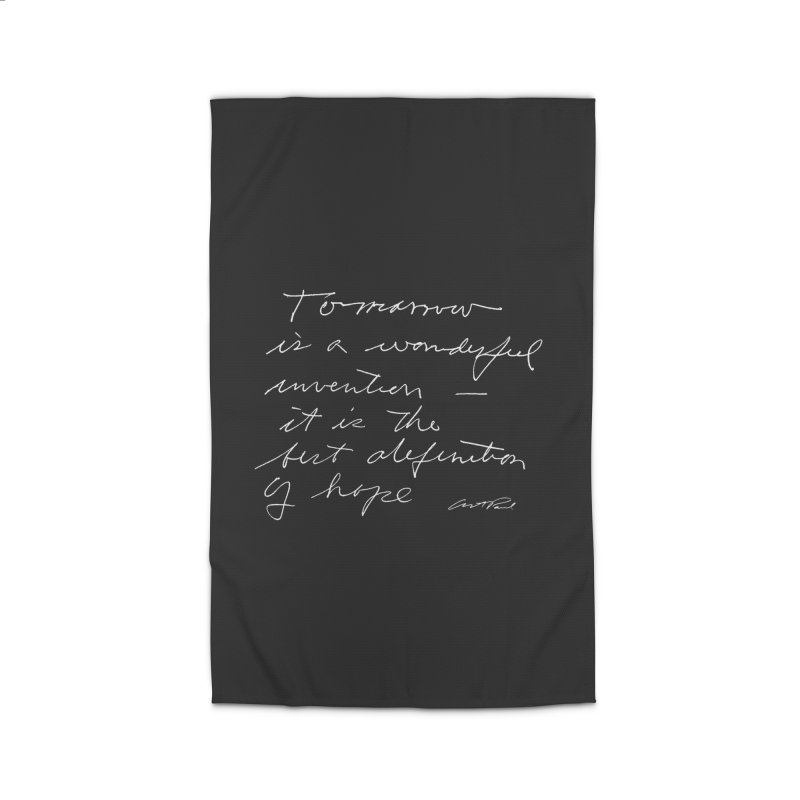 Tomorrow is a Wonderful Invention by Art Paul Home Rug by Design Museum of Chicago