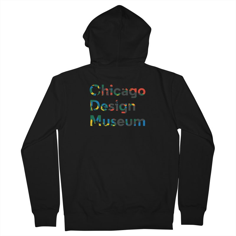 Chicago Design Museum by Yun Jee Nam Men's Zip-Up Hoody by Chicago Design Museum