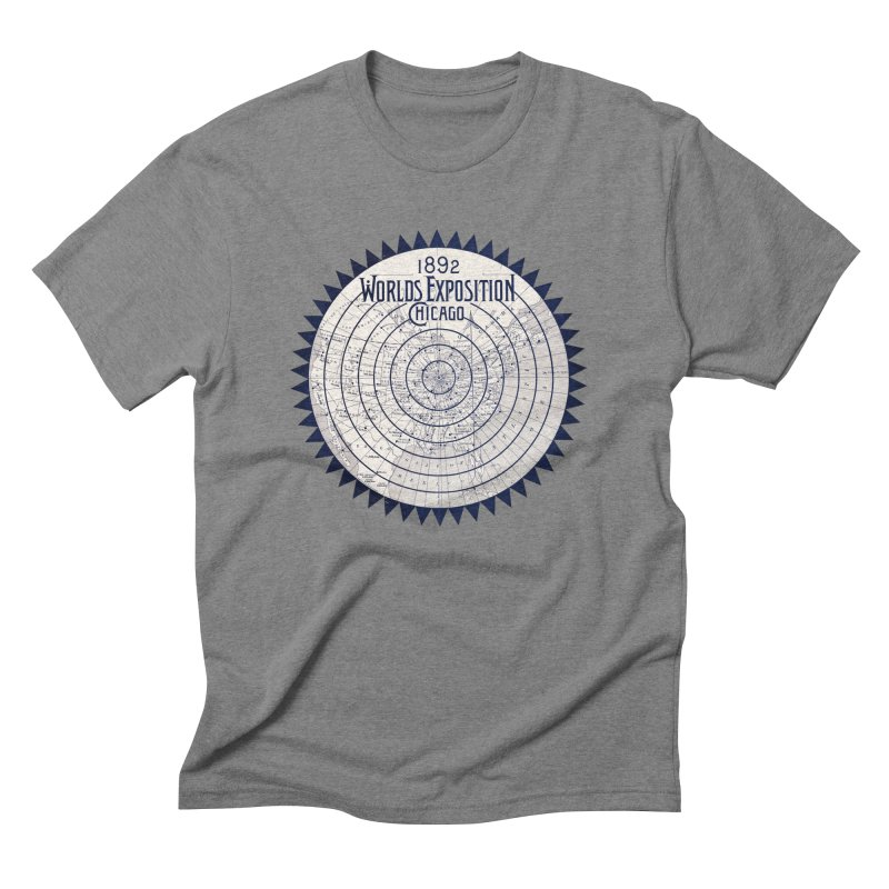 World's Exposition Chicago 1892 Men's Triblend T-Shirt by Chicago Design Museum