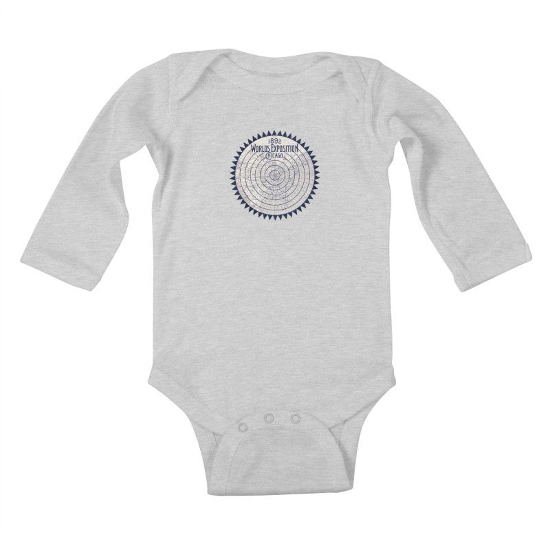 World's Exposition Chicago 1892 Kids Baby Longsleeve Bodysuit by Chicago Design Museum