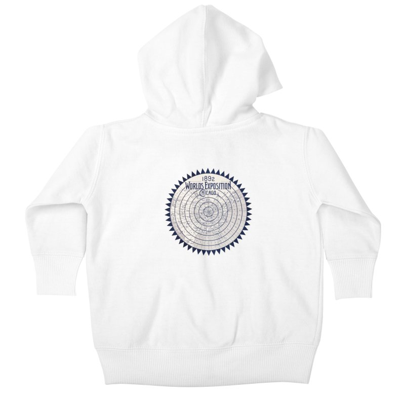 World's Exposition Chicago 1892 Kids Baby Zip-Up Hoody by Chicago Design Museum