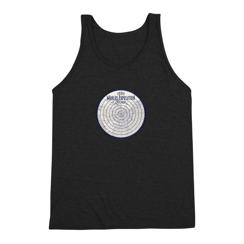 World's Exposition Chicago 1892 Men's Triblend Tank by Chicago Design Museum