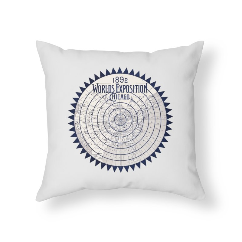 World's Exposition Chicago 1892 Home Throw Pillow by Chicago Design Museum