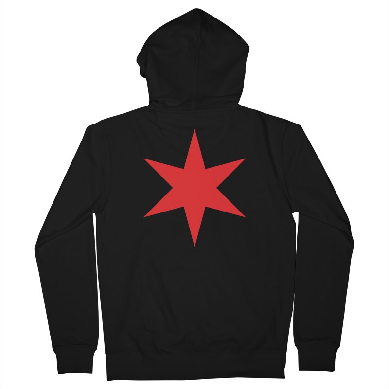 The Chicago Star by Wallace Rice Women's French Terry Zip-Up Hoody by Design Museum of Chicago