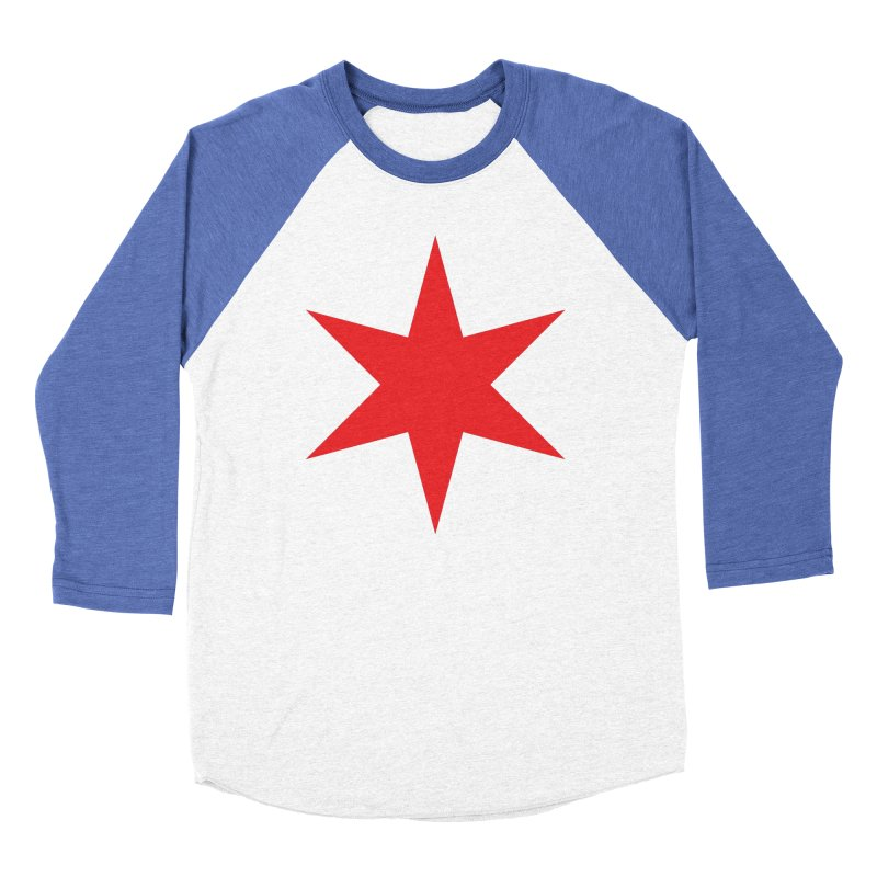 The Chicago Star by Wallace Rice Women's Baseball Triblend Longsleeve T-Shirt by Design Museum of Chicago
