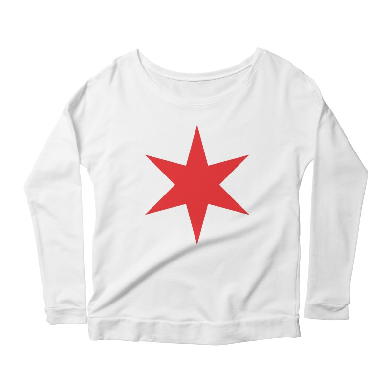 The Chicago Star by Wallace Rice Women's Scoop Neck Longsleeve T-Shirt by Design Museum of Chicago