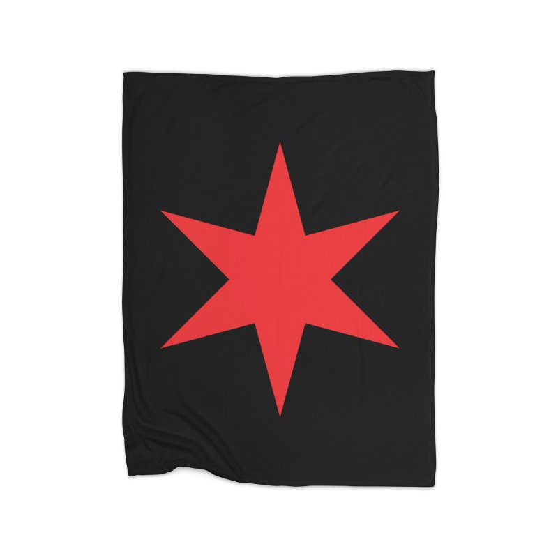 The Chicago Star by Wallace Rice Home Fleece Blanket Blanket by Design Museum of Chicago