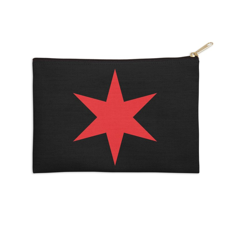 The Chicago Star by Wallace Rice Accessories Zip Pouch by Design Museum of Chicago