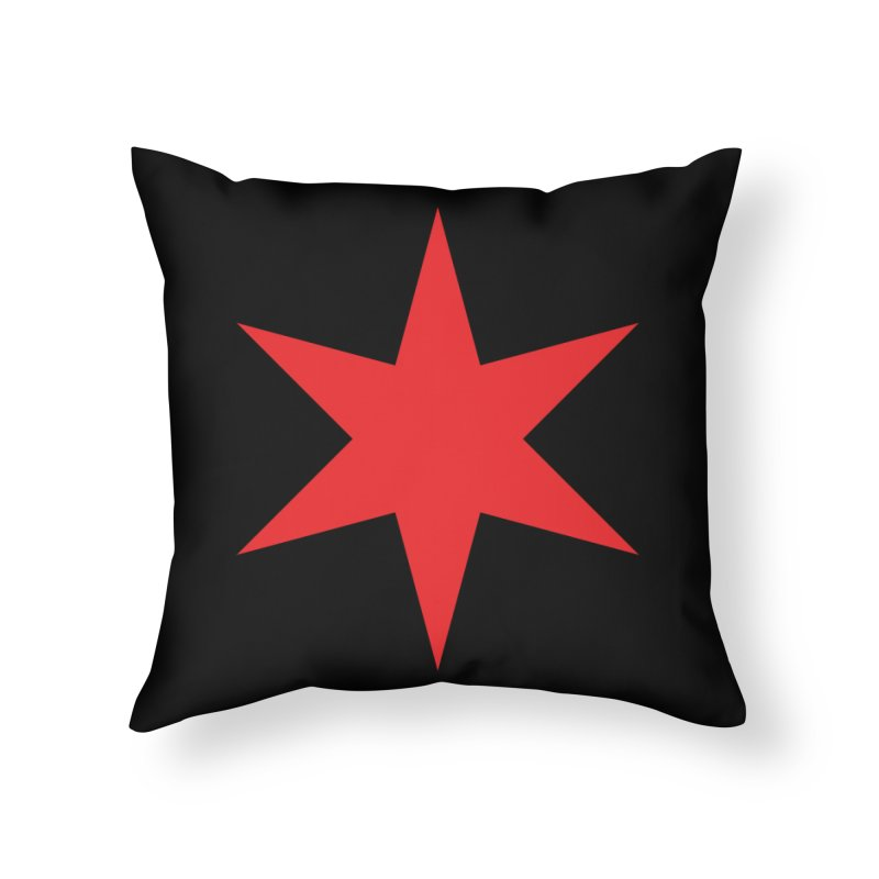 The Chicago Star by Wallace Rice Home Throw Pillow by Design Museum of Chicago