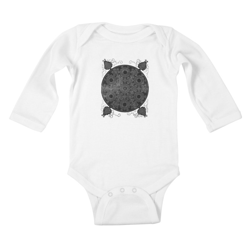 Fourth Knot with Seven Wreaths by Albrecht Dürer Kids Baby Longsleeve Bodysuit by Chicago Design Museum