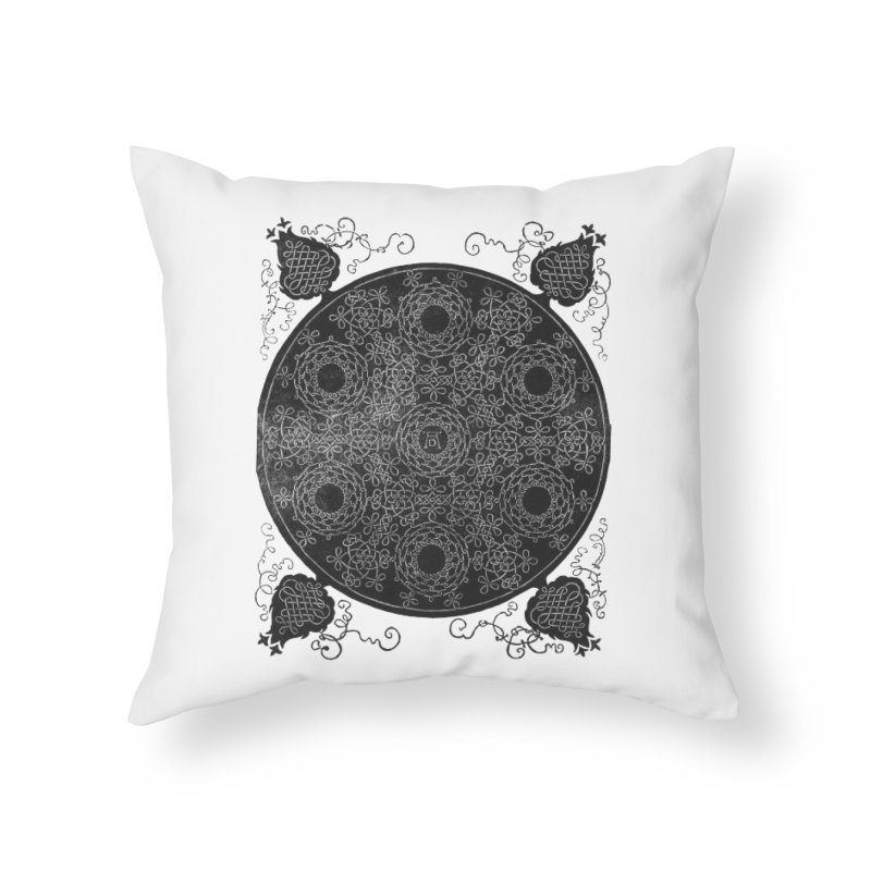 Fourth Knot with Seven Wreaths by Albrecht Dürer Home Throw Pillow by Chicago Design Museum
