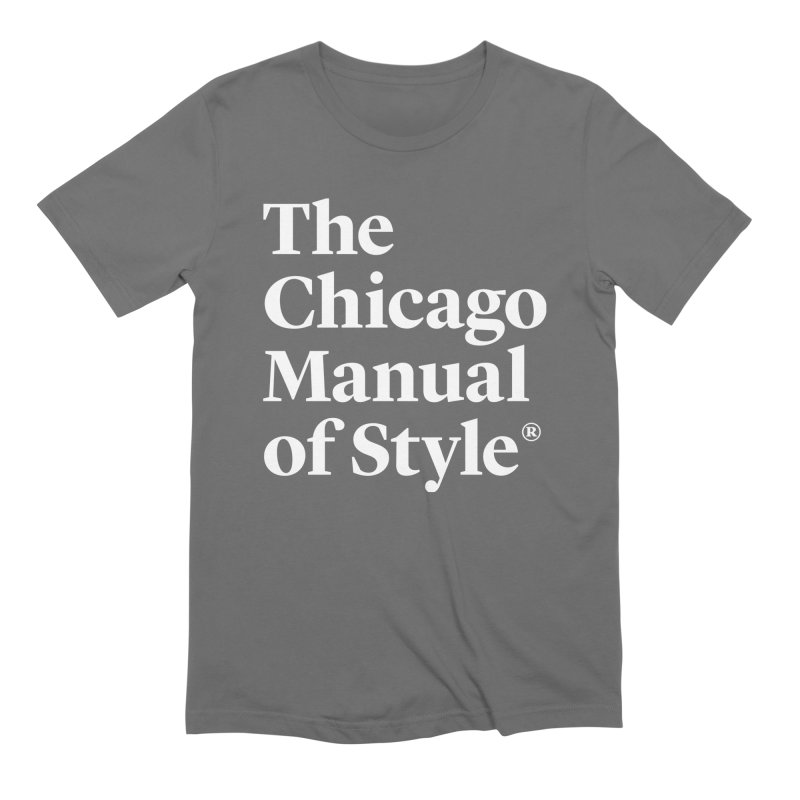 The Chicago Manual of Style Logo White Men T-Shirt by Chicago Manual of Style