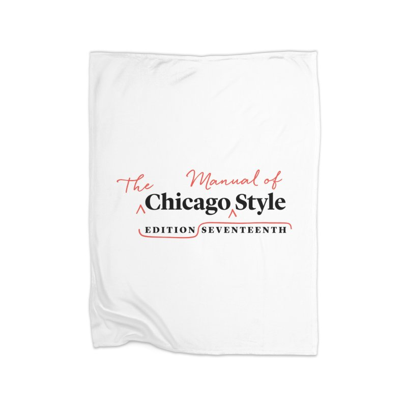 Chicago Style, Black + Red/ Men's and Kids Home Fleece Blanket Blanket by Chicago Manual of Style