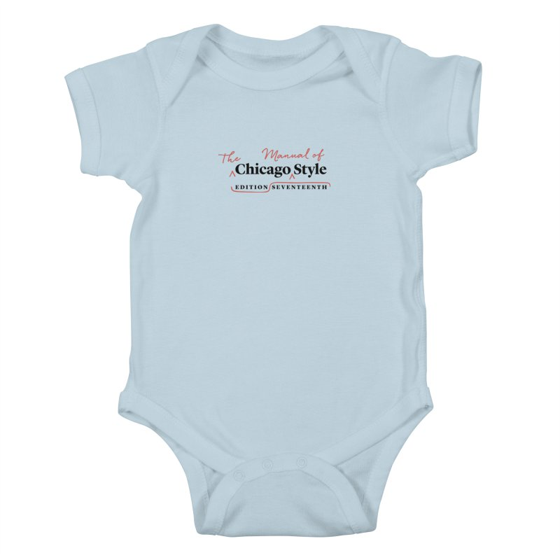 Chicago Style, Black + Red / Men's & Kids' Apparel Kids Baby Bodysuit by Chicago Manual of Style