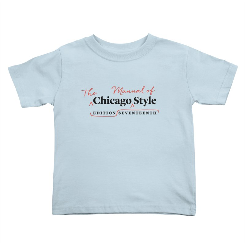 Chicago Style, Black + Red / Men's & Kids' Apparel Kids Toddler T-Shirt by Chicago Manual of Style