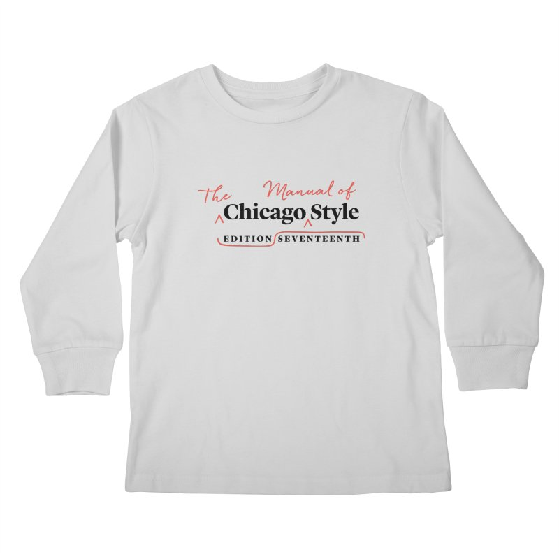 Chicago Style, Black + Red / Men's & Kids' Apparel Kids Longsleeve T-Shirt by Chicago Manual of Style